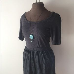 ANTHRO soft scoop-neck dress